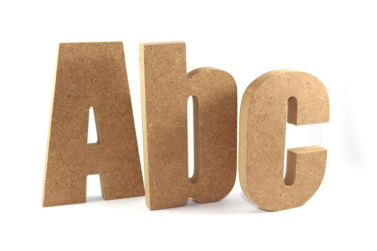 Letras de madera sin pintar decotim decoraciones en madera - Plantillas de letras para pintar en madera ...
